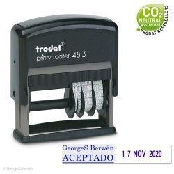 Sello Fechador Printy 4813 de 50x10mm