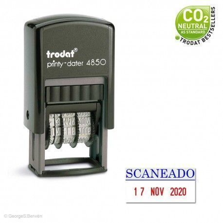 Sello Fechador Mini Printy 4850 de 25x10mm