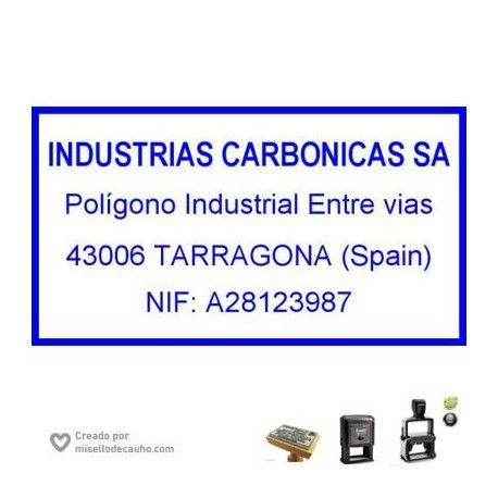 Sello empresa, modelo carbonicas