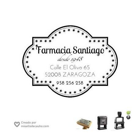 Sello empresa -La Farmacia- de 6x4cm