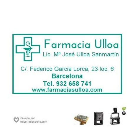 Sello Farmacia -Ulloa- de 6x3cm