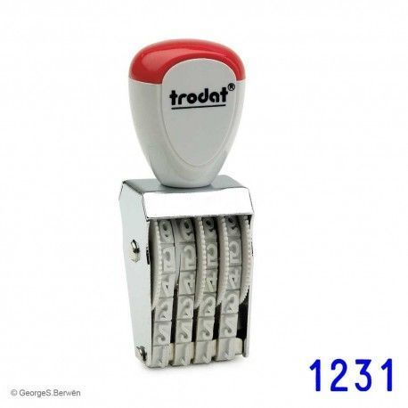 Sello numerador manual Trodat 1544 de 4mm
