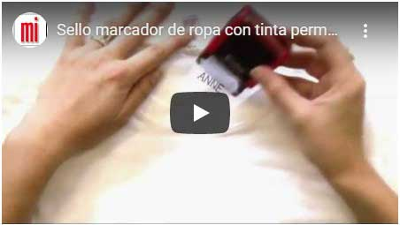video youtube sello para la ropa